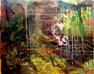 Large Original Art Painting 24X30 Secrets and Mysteries Abstract OAKVILLE Gallery Thick canvas Valerie Koudelka