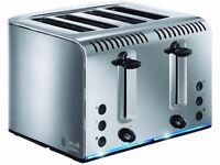 Russell Hobbs 20750 Buckingham Four Slice Toaster - Brushed Stainless Steel New