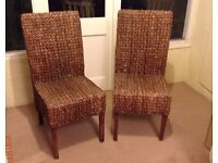 Rattan High Back Chairs
