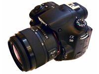 Sony A58 + 18-55mm SAMS II Lens