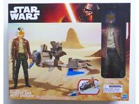 "STAR WARS HASBRO THE FORCE AWAKENS HERO SERIES 12"" INCH SPEEDER BIKE & POE DAMERON ACTION FIGURE £20"