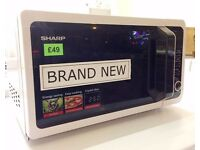 Brand New! - Sharp 20L, White, 800w MICROWAVE OVEN with 1000w GRILL + 12 MONTHS WARRANTY + DELIVERY