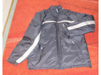 BRAND NEW MENS/BOYS BHS NAVY COAT PADDED SIZE 38-40 INCHES