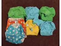 5 Tots Bots Bamboozle nappies with wraps