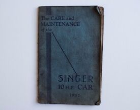 The Care and Maintenance of the Singer 10 H.P. Car 1932