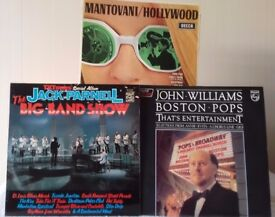 3 LPs Jack Parnell - Big Band Show; John Williams and the Boston Pops; Mantovani - Hollywood