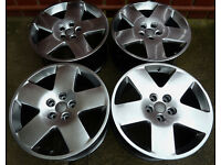 OEM Genuine 18'' AUDI Alloy wheels * Flat fives * 5x112 * VW * Chrome