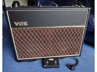 Vox AC30VR + VFS2A Footswitch (Channel and Reverb)