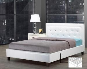 BEDS | ALSO AVAILABLE - LOW PLATFORM BED WITH LIGHTS, MODERN COOL LOOKING LEATHER BED (IF105)