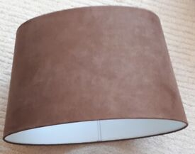Rich chocolate brown large oval lampshade