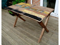 Rustic Industrial Reclaimed Wood Dining Table