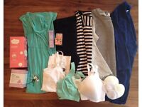 Maternity Bundle: Clothes, clothes accessories, and brand new post-labor products