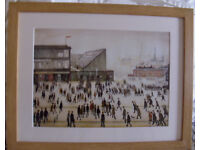 L S Lowry Going To The Match Print Professionally Solid Oak Frame