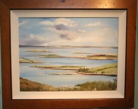 Original Oil Painting STRANGFORD LOUGH, N. IRELAND Irish Artist TANYA SMITH