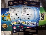 India vs Packistan x2 cricket tickets, Sunday 4th June ICC Champions Trophy £350