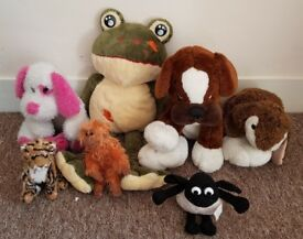 bundle of soft plush toys £5