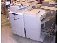 XEROX DOCUCOLOR DC 242 DC242 BUSTLED RIP / FIERY SADDLE FINISHER
