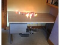 Ikea office study desk with fitted drawer unit. Quality item.