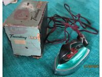 Vintage Travel Iron with box - Clem