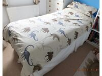 Children's Dinosuar Bedding & matching curtains with tie backs