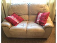 Comfortable excellent condition leather 2 seater sofa