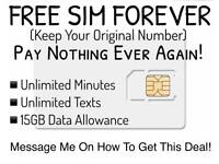 Free Sim With No Monthly Charge!
