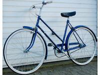 Beautiful Vintage Lightweight 3 Speed Raleigh Dutch Style Ladies bike, Serviced