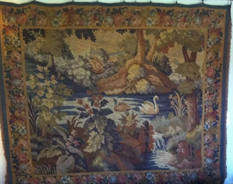 19th CENTURY WOVEN WOOL/SILK LARGE FRENCH TAPESTRY- PRICE REDUCTION