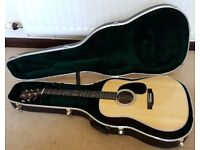 2017 Martin D28 acoustic guitar - as new condition
