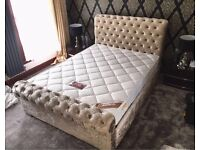 Beautiful brand new crushed velvet bed