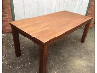 Acacia Wood, Dining Table, Unused.