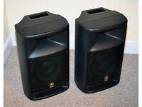 Yamaha MSR250 powered speakers