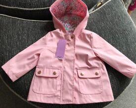 Baby Girls Rain Coat, Brand New!