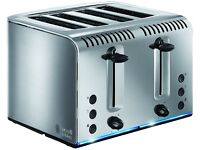 Russell Hobbs 20750 Buckingham Four Slice Toaster - Brushed Stainless Steel New