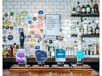 Part time bar tender required for high quality craft beer and cocktail pub in Marylebone