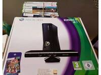 Xbox 360 kinect complete with 10 games