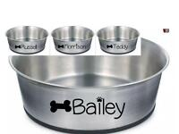 Dogs puppy personalised bowl
