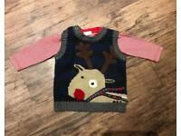 Next Christmas Jumper Age 6-9 Months