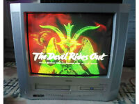 CRT Combi TV VHS/DVD Player w/retro gaming adapter