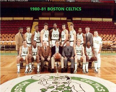 1980-81 BOSTON CELTICS 8X10 TEAM PHOTO BASKETBALL PICTURE NBA