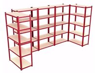 NEW Heavy Duty 1325 KG Capacity Garage Shed Storage Shelving 5 Tier Racking/Shelving Bay