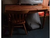 Pine Dining Table + 4 Matching Chairs