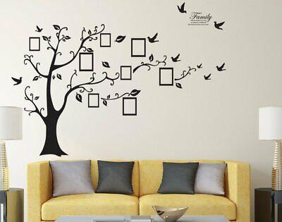 Familienfoto Baum Wandaufkleber Aufkleber Wandhaupt Raumdekor Geschenk (Familie Baum-wand-aufkleber)