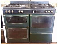 Diplomat - Black + Dark Green , Fan Assist RANGE COOKER + 3 Month Guarantee + FREE LOCAL DELIVERY