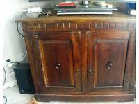 Shabby chic dresser, kitchen table,cuboard.