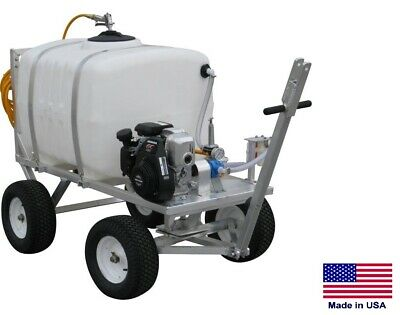 Sprayer Commercial - 4 Wheel Trailer Mounted - 100 Gallon Tank - 7 Gpm - 150 Psi