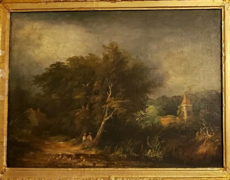 Museum Quality Antique 19c English School oil painting on canvas