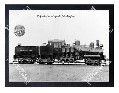 Historic Eufaula Co. - Eufaula, Washington Train Postcard