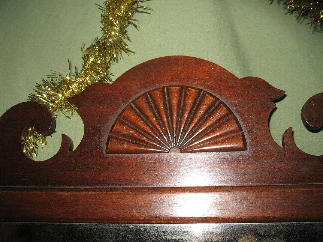"Collectble  1930's Tilt  Slid Wood Mahogany Mirror for Dresser 42"" Long"