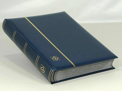 LIGHTHOUSE LEATHERETTE STOCKBOOK 64 PGS. BLUE - LSP4/32BL - FREE SHIPPING
